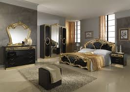 gold curtains black gold wooden bed white ceramic floor silver