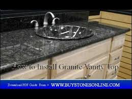 how to install a granite vanity top in your bathroom youtube