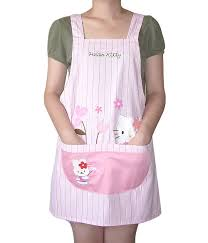 tablier de cuisine hello kitchen apron pink hello japanese avental de cozinha