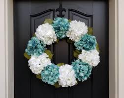 hydrangea wreath etsy