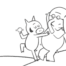 mo willems coloring pages elephant piggie archives mente