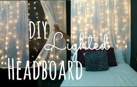 Diy Canopy Bed With Lights Diy Lighted Headboard Lilmissmegsmakeup