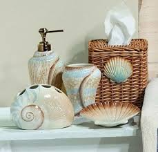 seashell shower curtain bathroom set ideas seashell themed