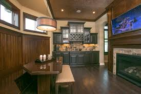 the pub room is truly one of a kind in this coppertree homes