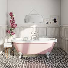 the bath co dulwich victoria rose coloured bath roll top bath