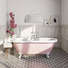 Bathroom Feature Tile Ideas The Bath Co Dulwich Victoria Rose Coloured Bath Roll Top Bath