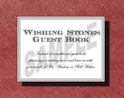 guest signing stones wishing stones sign etsy