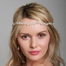 boho headband bridal boho headband pearl hairvine bridal hair