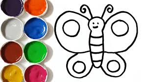 how to draw butterfly coloring pages art colours for kids
