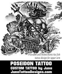 poseidon tattoo greek mythology tattoo juno tattoo designs