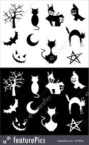 halloween silhouettes illustration