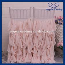 ruffled chair covers ch014e angela wedding new curly willow ruffled wedding blush pink