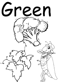 Green Coloring Page Az Coloring Pages Coloring Page For Green In Green Coloring Page