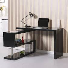 Desk And Bookshelf Combo Aosom Homcom Rotating Office Desk And Shelf Combo U2013 Black Home
