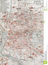 Madrid Map Old Map Of Madrid Royalty Free Stock Photography Image 20292857