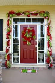 stunning garland front door images best inspiration