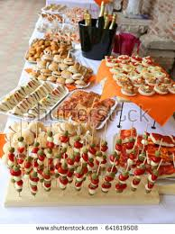 table snack cuisine tasty sandwiches many snack food on stock photo royalty free