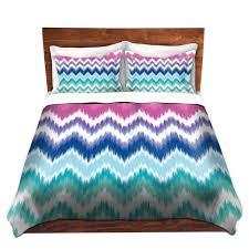 Turquoise Chevron Duvet Cover Unique Comforter Covers Unique Decorative Designer Organic