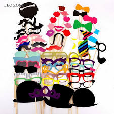 Halloween Photo Booth Props 58pcs Photo Booth Props Photocall Decoration Mariage Photobooth