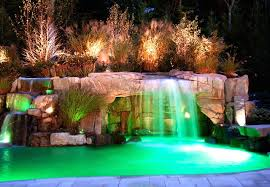 led lights for pool waterfalls lightings and ls ideas