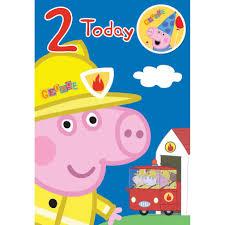peppa pig birthday 2 today george peppa pig birthday card with badge 221992