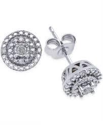 cheap diamond earrings diamond stud earrings 1 10 ct t w in sterling silver