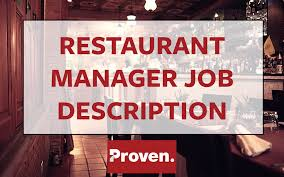 Chef Job Description Resume by The Perfect Restaurant Manager Job Description