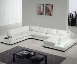 Modern Contemporary Sofa Alluring White Leather Sectional Sofa Ideas For Living Room