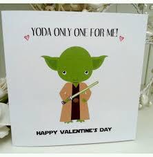 yoda valentines card wars yoda handmade anniversary engagement