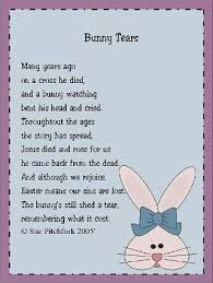 free easter poems image detail for view topic bunny tears ideas