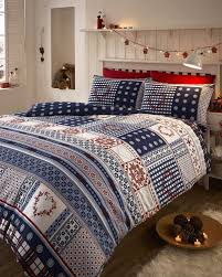brushed cotton flannelette thermal double duvet cover set