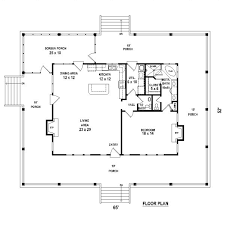 one bedroom home plans one bedroom 1 5 bath cabin with wrap around porch and screened