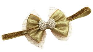 gold headbands gold glitter bow headband fancy