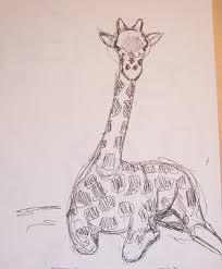 giraffe sketch by wicked nellie on deviantart