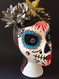 Medusa Planter Sugar Skull Succulent Planter Jennifer Perkins Jennifer Perkins