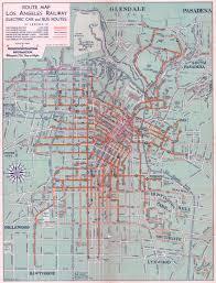 Culver City Map 1934 Map Of Public Transport In L A L A Taco