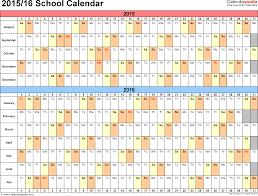 split year calendar 201516 printable word templates 2015 and 2016