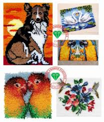 rugs carpets latch hook rug kits diy needlework unfinished