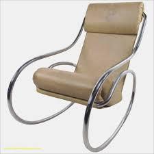 chaise rocking chair luxe mid century modern tubular chrome