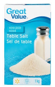 sea salt and table salt great value iodized table salt walmart canada