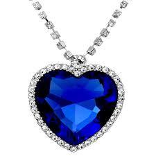 blue sapphire necklace pendant images Buy shining diva the famous titanic heart of ocean pendant jpg