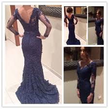 navy blue lace bridesmaid dress custom made neck navy blue lace prom dresses lace wedding