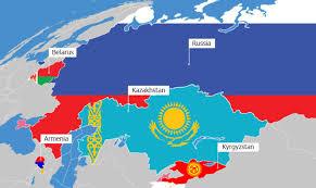 russia map belarus eaeu belarus kazakhstan kyrgyzstan russia and armenia