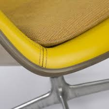 yellow herman miller vintage eames ea178 loose cushion lounge