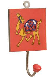 camel trends u2013 handmade 6 u201d ceramic wall hook with camel painted