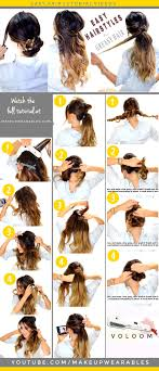 easy messy buns for shoulder length hair 4 easy hairstyles for greasy hair cute everyday styles