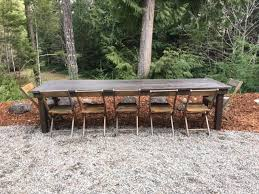 Farm Table With Bench And Chairs Table Bench U0026 Chair Rentals Olympic Farm Style Events