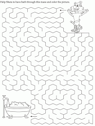 maze coloring page kids coloring