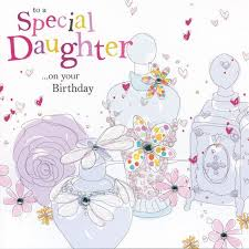 hand finished daughter birthday card karenza paperie