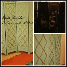 cardboard room divider room divider makeover with hand stenciling delicious and diy